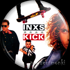 "INXS ""Kick"" - Retro Music Badge/Magnet"