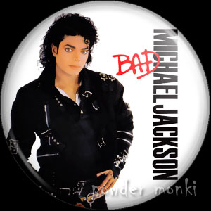 "Michael Jackson ""Bad"" - Retro Music Badge/Magnet"