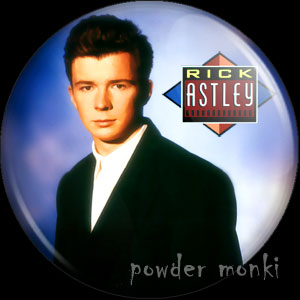 "Rick Astley ""Whenever You Need Somebody"" - Retro Badge/Magnet"