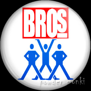 Bros - Retro Music Logo Badge/Magnet