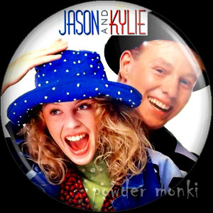 Jason Donovan & Kylie Minogue - Retro Music Badge/Magnet