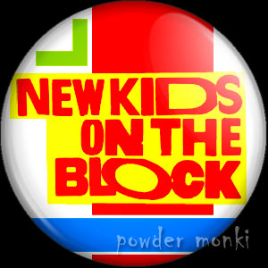New Kids On the Block - Retro Music Logo Badge/Magnet