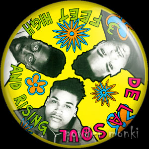 "De La Soul ""3 Feet High and Rising"" - Retro Music Badge/Magnet"