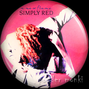 "Simply Red ""A New Flame"" - Retro Music Badge/Magnet"