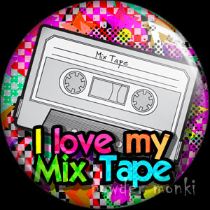 I Love My Mix Tape - Retro 80's Badge/Magnet