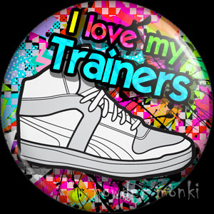 I Love My Sneakers - Retro 80's Badge/Magnet - Click Image to Close