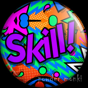 Skill! - Retro 80's Badge/Magnet