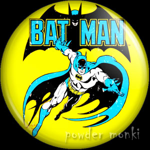 Bat-Man - Retro Comic Badge/Magnet