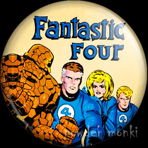 Fantastic Four - Retro Comic Badge/Magnet