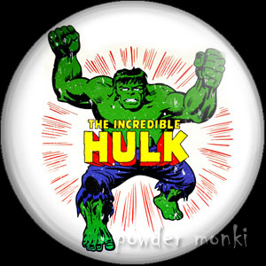 Incredible Hulk - Retro Comic Badge/Magnet