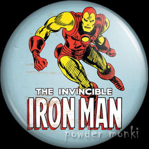 Iron Man - Retro Comic Badge/Magnet