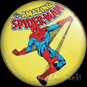 Amazing Spider-Man - Retro Comic Badge/Magnet