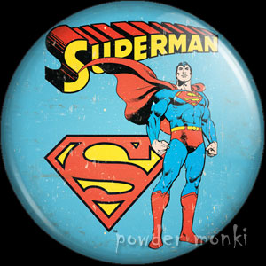 Superman - Retro Comic Badge/Magnet