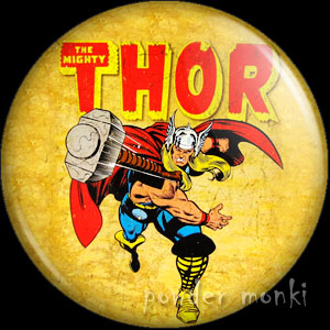 Mighty Thor - Retro Comic Badge/Magnet
