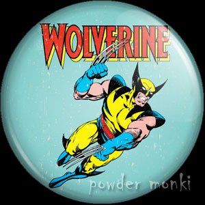 Wolverine - Retro Comic Badge/Magnet