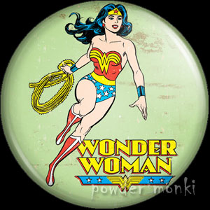 Wonder Woman - Retro Comic Badge/Magnet