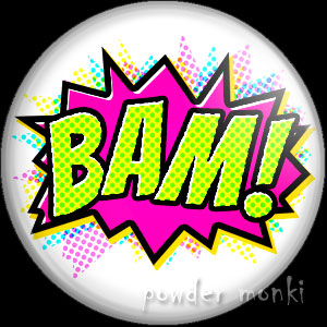 BAM! - Retro Comic Badge/Magnet