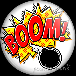 BOOM! - Retro Comic Badge/Magnet