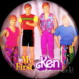 My First Ken Easy-On Fashions (1991) - Barbie Badge/Magnet