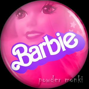 Barbie 1980's Pink Logo - Badge/Magnet