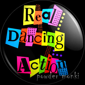 "Barbie & The Rockers ""Real Dancing Action"" - Badge/Magnet"