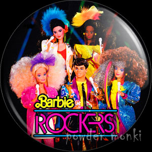 Barbie Amp The Rockers Group Badge Magnet 163 1 50
