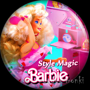 Style Magic Barbie Styling Salon - Badge/Magnet