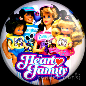 Heart Family - Retro Toy Badge/Magnet