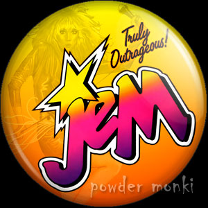 Jem Logo - Retro Toy Badge/Magnet