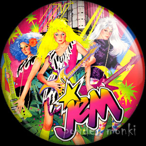 "Jem ""The Misfits"" - Retro Toy Badge/Magnet"