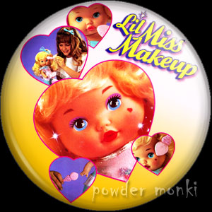 Li'l Miss Makeup - Retro Toy Badge/Magnet