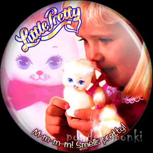 Little Pretty / Curly Kittens - Retro Toy Badge/Magnet