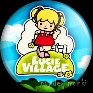 Lucie Village - Retro Toy Badge/Magnet