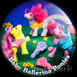 "My Little Pony Y9 ""Baby Ballerinas"" - Retro Toy Badge/Magnet"