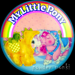 "My Little Pony Y4 ""Baby Pony Wear"" 1 - Retro Toy Badge/Magnet"