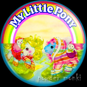 "My Little Pony Y4 ""Baby Pony Wear"" 2 - Retro Toy Badge/Magnet"