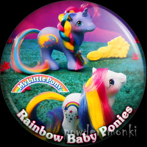"My Little Pony Y9 ""Baby Rainbow"" - Retro Toy Badge/Magnet"