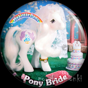 "My Little Pony Y8 ""Pony Bride"" - Retro Toy Badge/Magnet"
