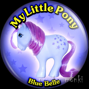 "My Little Pony Y1 ""Blue Belle"" - Retro Toy Badge/Magnet"
