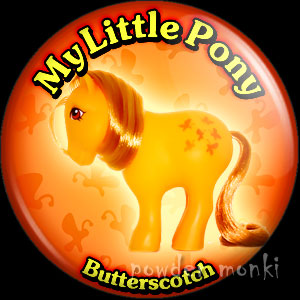 "My Little Pony Y1 ""Butterscotch"" - Retro Toy Badge/Magnet"