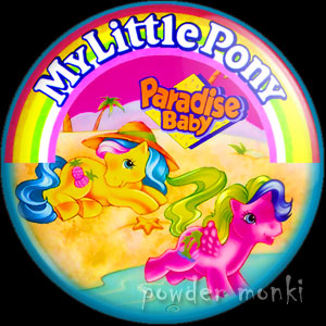 "My Little Pony Y10 ""Paradise Baby"" - Retro Toy Badge/Magnet"