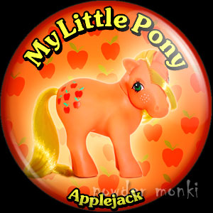 "My Little Pony Y2 ""Applejack"" - Retro Toy Badge/Magnet"