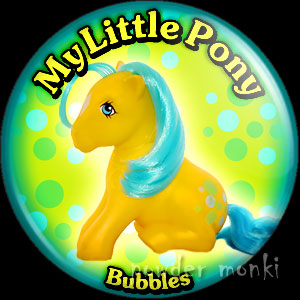 "My Little Pony Y2 ""Bubbles"" - Retro Toy Badge/Magnet"
