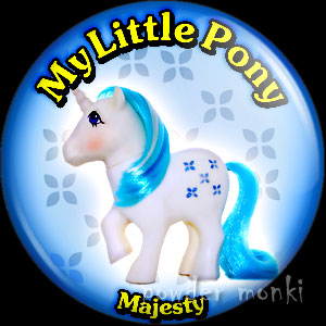 "My Little Pony Y2 ""Majesty"" - Retro Toy Badge/Magnet"