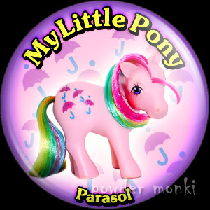 "My Little Pony Y2 ""Parasol"" - Retro Toy Badge/Magnet"
