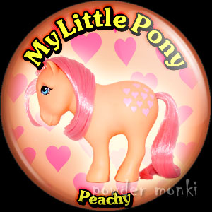"My Little Pony Y2 ""Peachy"" - Retro Toy Badge/Magnet"