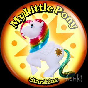 "My Little Pony Y2 ""Starshine"" - Retro Toy Badge/Magnet"