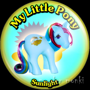 "My Little Pony Y2 ""Sunlight"" - Retro Toy Badge/Magnet"