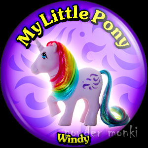 "My Little Pony Y2 ""Windy"" - Retro Toy Badge/Magnet"