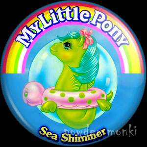 "My Little Pony Y3 Sea ""Sea Shimmer"" - Retro Toy Badge/Magnet"